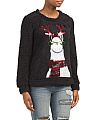 Sequined Llama Reindeer Sweater