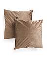 20x20 2pk Embossed Velvet Pillows