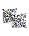 20x20 2pk Priya Damask Pillows