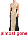 Made In USA Column Belted Gown