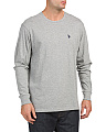 Long Sleeve Heathered Shirt