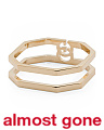 Made In Italy 18k Gold Running G Double Band Ring