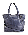 Made In Italy Vacchetta Leather Tote