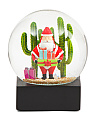 Santa With Cactus Snow Globe
