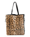 Made In Italy Leopard Leather Tote