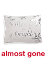 14x18 Merry & Bright Velvet Pillow