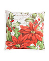 20x20 Poinsettia Velvet Pillow