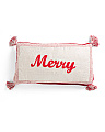 Made In India 14x24 Merry Pillow