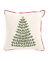 18x18 Embroidered Tree Pillow