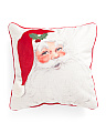 20x20 Laughing Santa Velvet Pillow