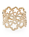 Made In Spain 14k Gold Open Flower Band Ring