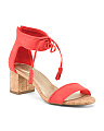 2pc Block Heel Sandals