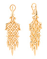 Made In UK Gold Plated Sterling Silver Superstud Chandelier Earrings