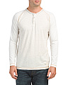 Long Sleeve Heather Jersey Henley