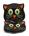 4pk Halloween Friends Cat Plates