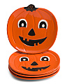 4pk Halloween Friends Pumpkin Plates
