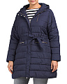 Plus Long Puffer Jacket
