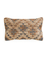 Made In India 13x21 Textured Wool Pillow