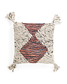 Made In India 18x18 Wool Blend Pillow
