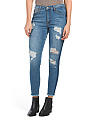 Juniors Tux Stripe Destructed Jeans