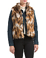 Juniors Faux Fur Vest