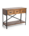 3 Drawer Wood Console