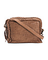 Made In Italy Woven Leather Crossbody