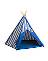 72in Striped Canvas Teepee Tent