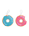 Set Of 2 Donut Luggage Tags