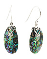 Made In Thailand Sterling Silver Abalone Earrings