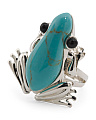 Made In Thailand Sterling Silver Turquoise Frog Ring