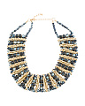 Navy Crystal Gold Chain Necklace