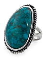 Made In Thailand Turquoise Rope Halo Ring