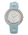 Women's Swiss Made Thea Topaz Bezel Diamond Marker Watch