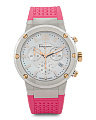 Women's Swiss Made F80 Chronograph Mother Of Pearl Watch