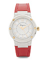 Women's Swiss Made F80 Leather Strap Watch