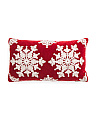 Made In India 14x24 Velvet Snowflake Pillow