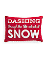 16x24 Dashing Through The Snow Pillow