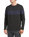 Mesh Block Crew Neck Pullover Top