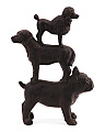 Resin Stacked Dogs Figurine