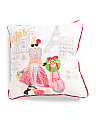 Kids 18x18 Winter Fashion Pillow