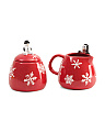 2pk Artic Holiday Sugar And Creamer Set