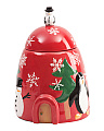 Artic Holiday Cookie Jar