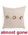 20x20 Chelsea Textured Button Pillow