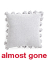 20x20 Chenille Knit Tassel Pillow