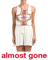 Racquel Embroidered Gauze Cover-up Romper
