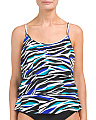 Wild Stripe Triple Tier Tankini Top