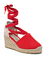 Made In Spain Closed Toe Espadrille Wedges