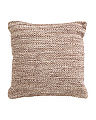 Made India 20x20 Natural Textured Pillow