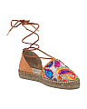 Made In Spain Multi Color Embroidery Espadrilles